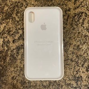 IPhone XS white silicone Case
